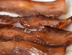 maple-glazed bacon