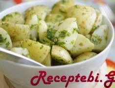 kartofilis salata broweulis wvenit