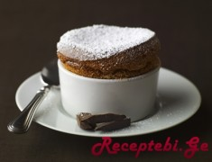 Individual Chocolate Souffle with Powdered Sugar