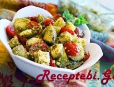 kartofilis da pamidvris salata