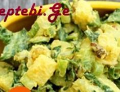 kartofilis salatta qishmishit